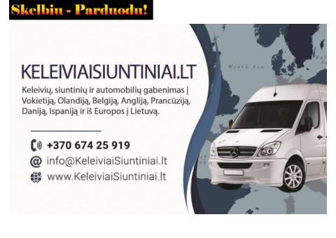 KELEIVIŲ VEŽIMAS Į Olandiją, Vokietiją, Angliją, Belgiją, Ispaniją  +37067425919