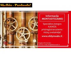 PASIŪLYMAS išskirtinės profesijos šildymo sistemos specialistams MONTUOTOJAMS !!!