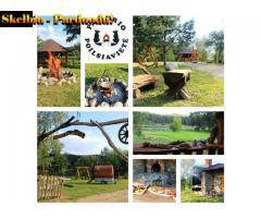 Poilsiavietės-stovyklavietės su laužaviete nuoma