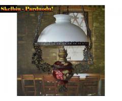 6) Žibalinė pakabinama Antikvar.  Prabangi  lempa
