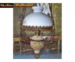 5)  Antikvar.pakabinama Žibalinė lempa