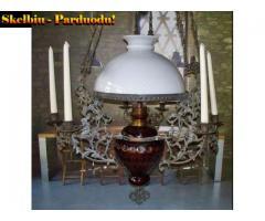 2) Antikvar.pakabinama Žibalinė lempa