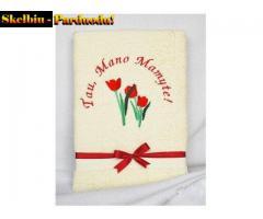 Proginiai rankšluosčiai su užrašu