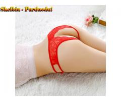 Women Sexy Lace Open Crotch Briefs Ladies Low Waist G-String Sex Game Pantie