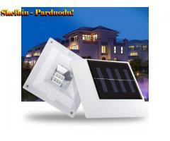 "2V 1.5W 6 LEDs 30LM saulės energija varoma kvadratinės formos tvoros lempa lauko sodui ""Solar 6LED"""