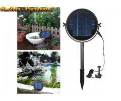 Fontanas su saulės baterijomis sodui, tvenkiniui