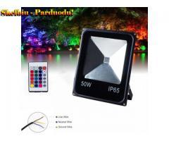 50W RGB LED lauko prožektorius  sodo apšvietimui
