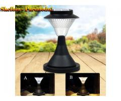 16 LED lauko sodo takelių, tvoros, kiemo, kolonos lemputė varoma  saulės energija LED lemputė Šilta