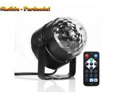 3 W LED RGB besisukanti rutulinė šviesos sceninė šviesa, skirta disko vakarėlių šventėms