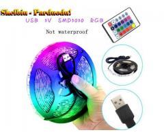 7 keičiamų spalvų LED juostą su nuotolinio valdymo pultu