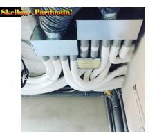 Vėdinimo sistemų montavimas, profilaktinis tikrinimas.