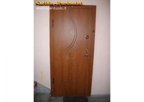 Metaliniai garazo vartai, metalines sandeliuko durys, sarvuotos durys