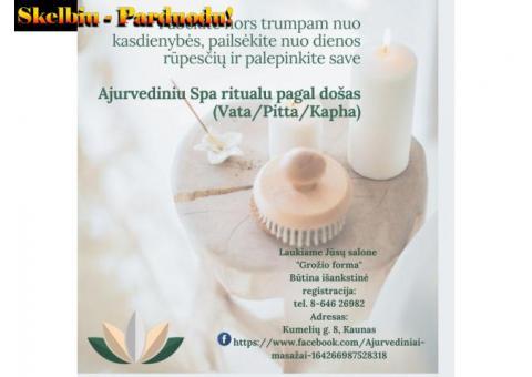 Ajurvedinis Spa ritualas pagal došas (Vata/Pitta/Kapha)